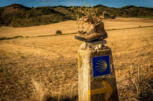I don't remember exactly where this picture was taken along the camino, but I do know that it is my favorite picture. It symbolizes the steps taken by so many pilgrims and it also demonstrates the simplicity of the yellow arrow pointing so many pilgrims along the right way. I just love everything about this picture.