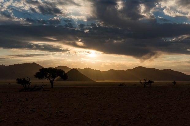 NamibiaDesertDriveSunset